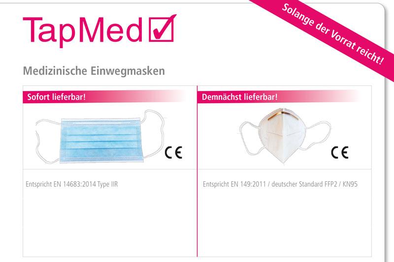 Neue Preise: Medizinische Einwegmasken